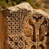Khach kar - cross stone